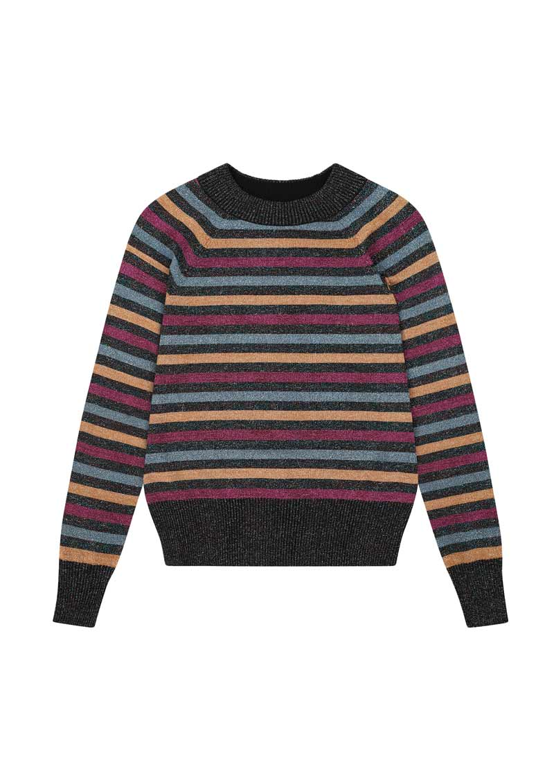 Agnetta Metallic Stripe Jumper Product Front