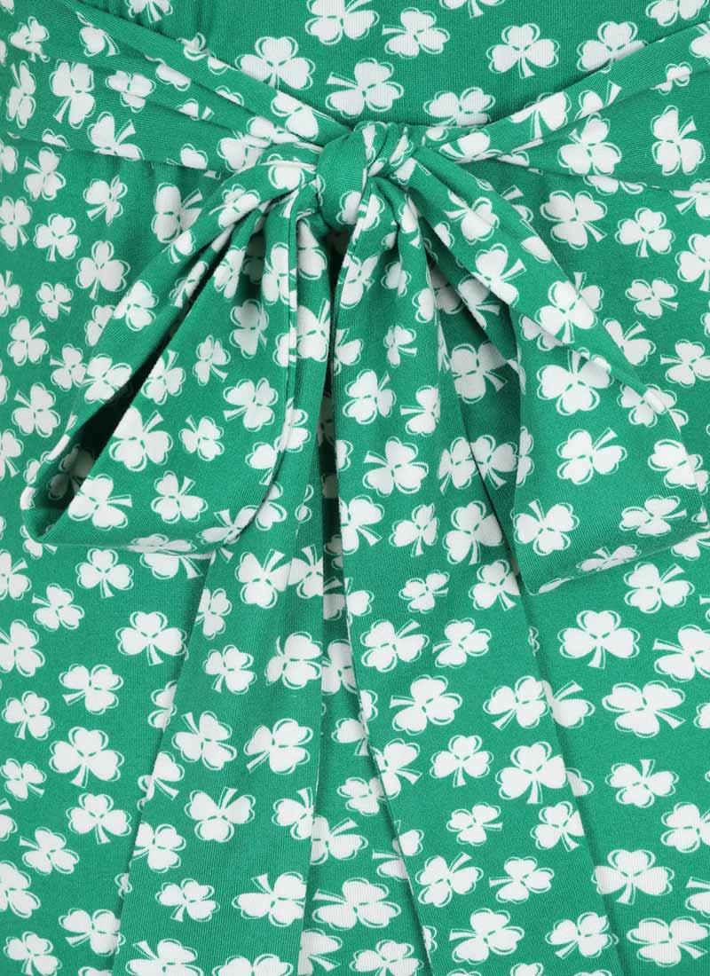Alexis Clover Print Jersey Dress