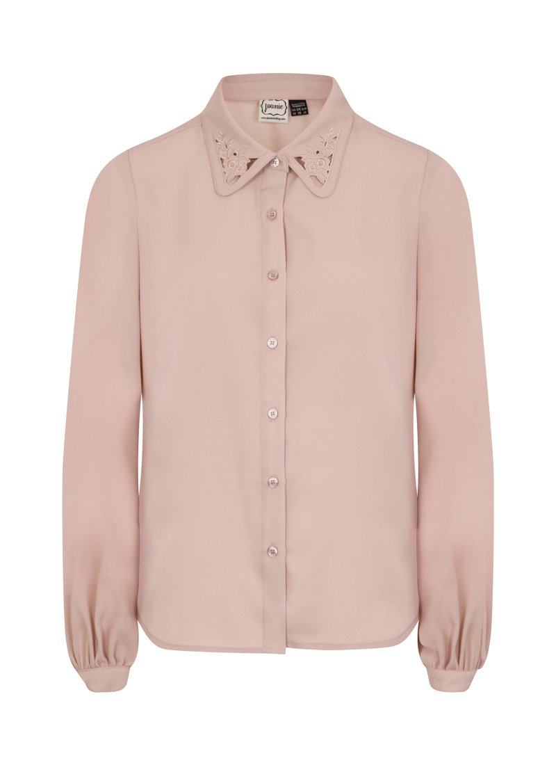 Ali Pink Cut Out Detail Pink Blouse Product Front