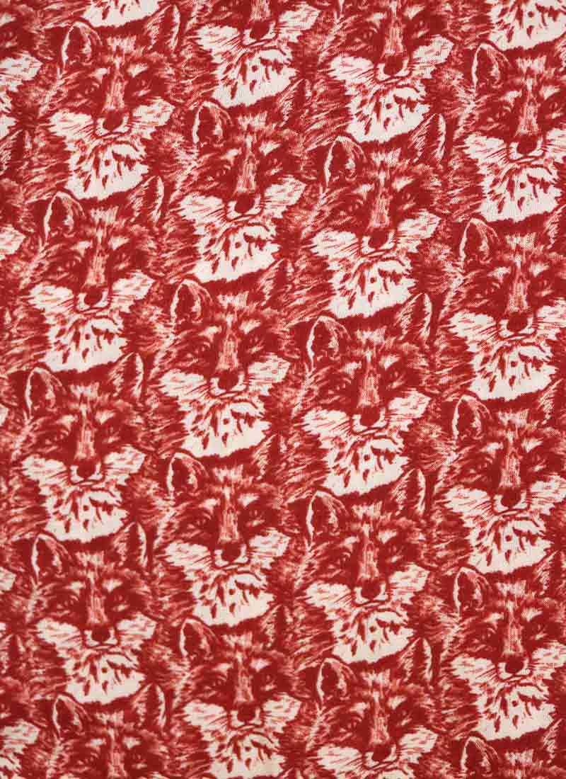 Barb Fox Print Tea Dress