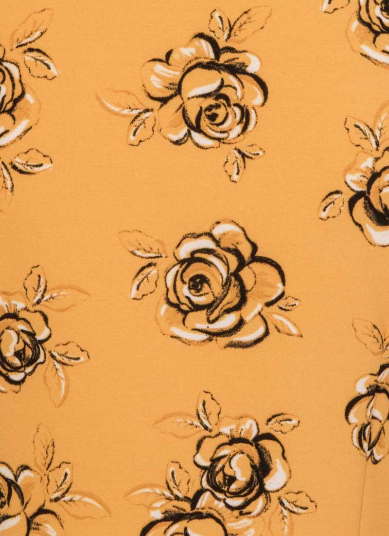 Beech Floral Frill Neck Blouse
