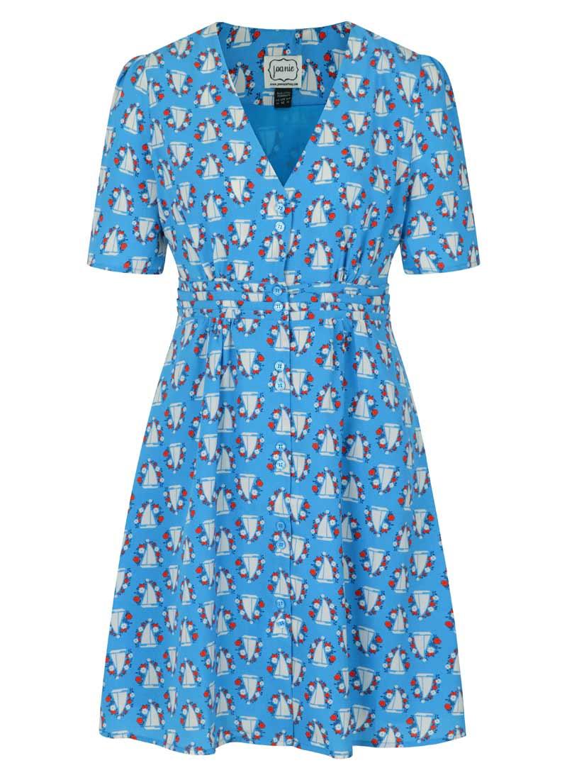 Birdie Boat Print Tea Dress Product Front