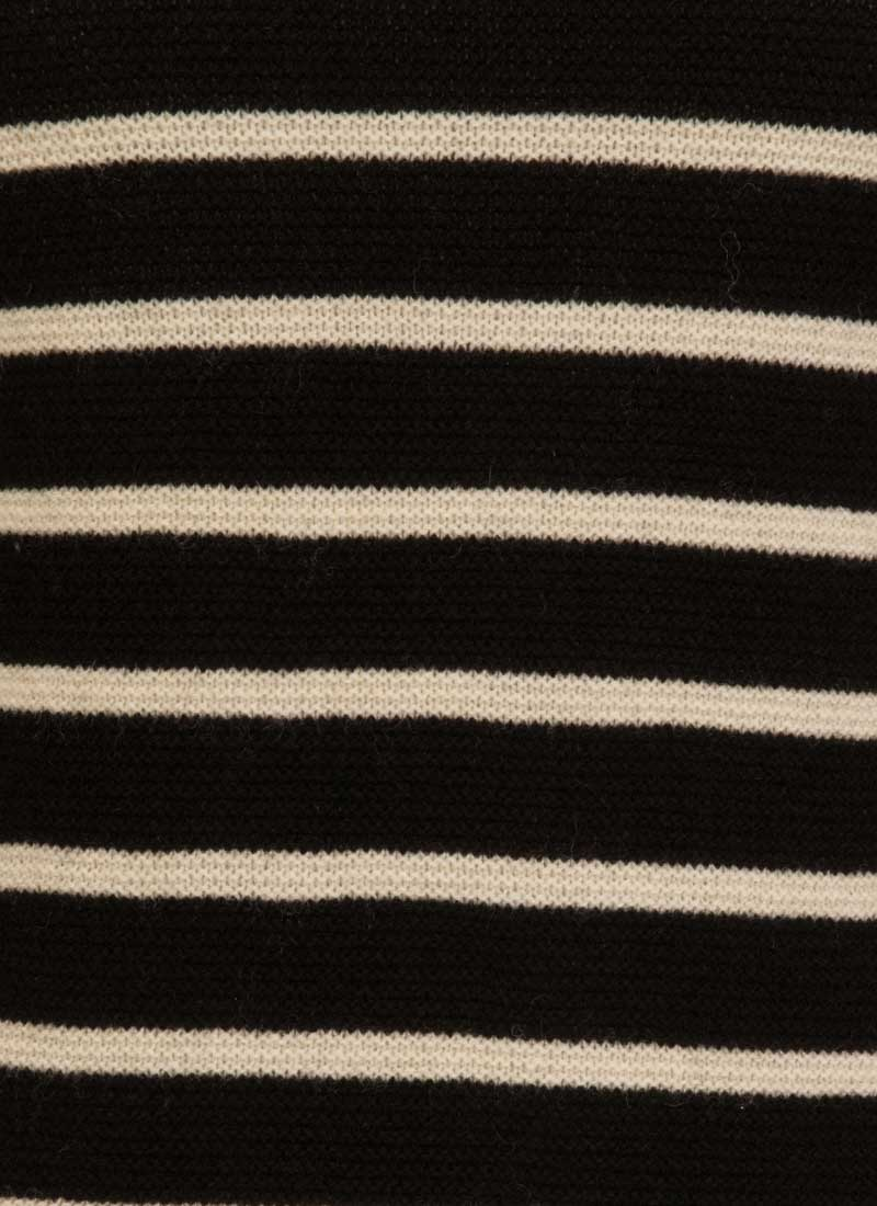 Blair Breton Stripe Jumper Dress - Black