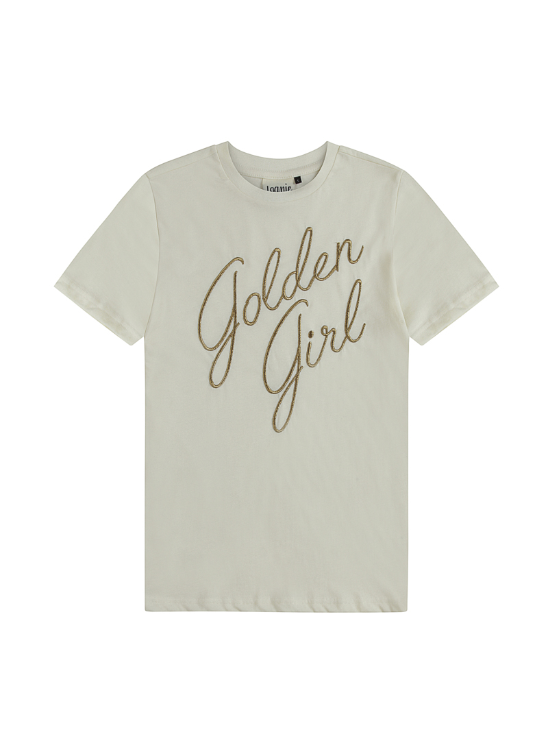 Blanche White Golden Girl Slogan Tee Product Front