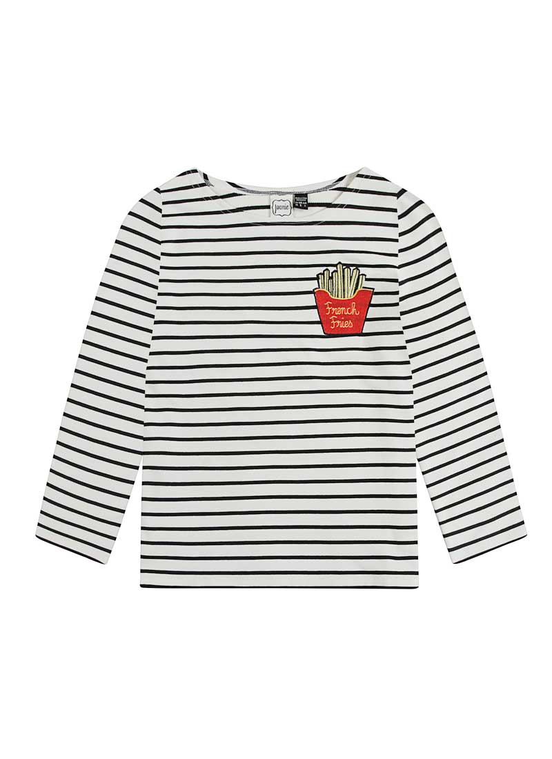 Bretter French Fries Breton Stripe Top Product Front