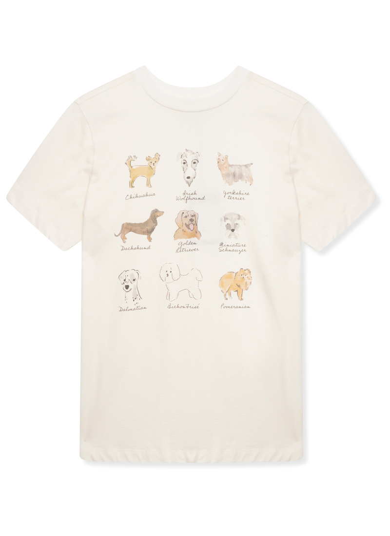 Canine Dog Illustration Print Tee Product Front