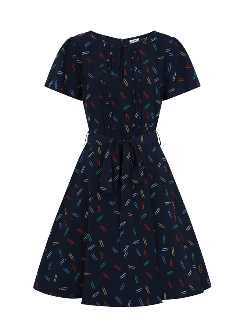 Celia Paperclip Print Dress Product Front