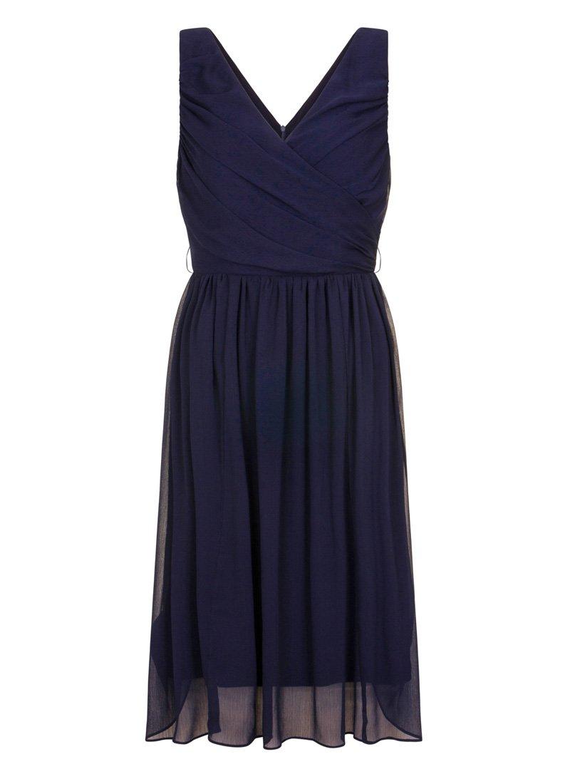Celine Navy Georgette Occasion Dress