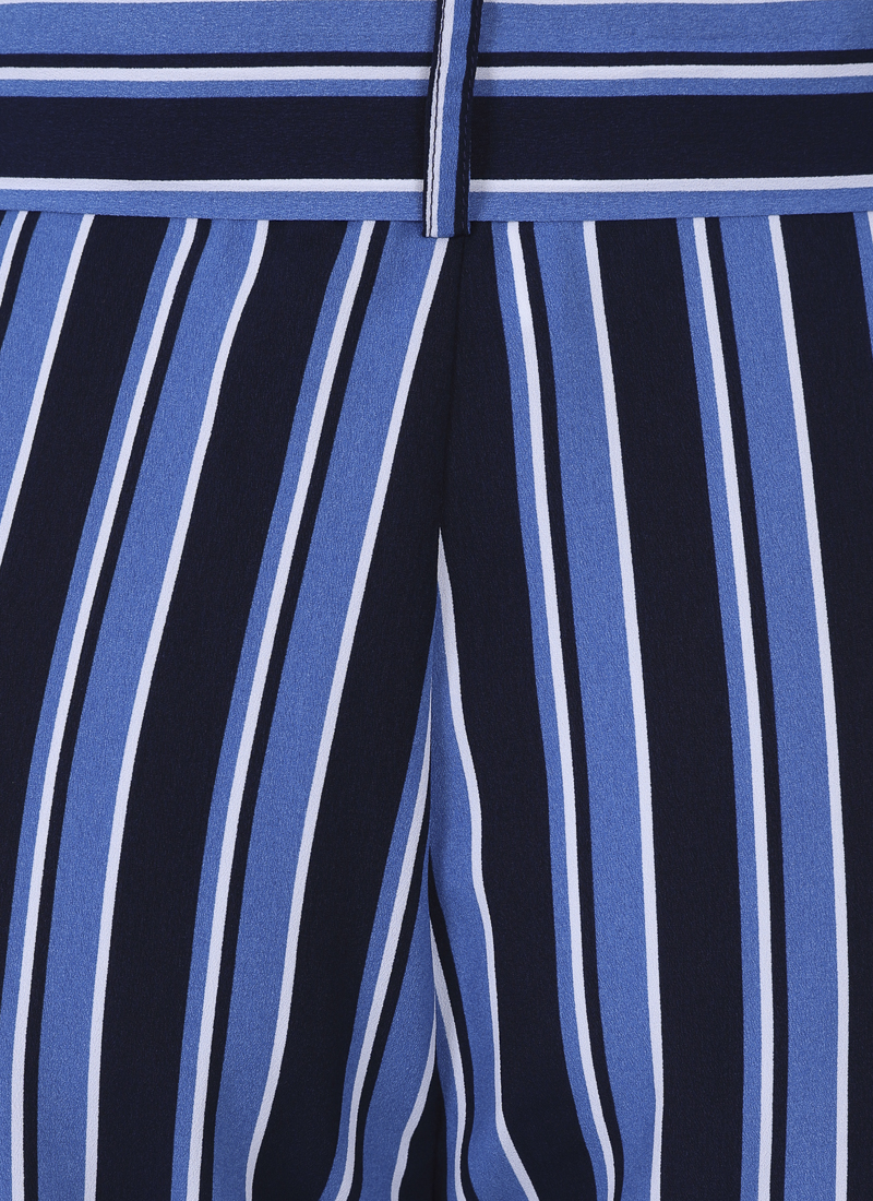 Chloe Stripe Culottes - Blue