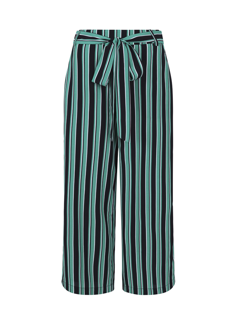 chloe stripe culottes green product front
