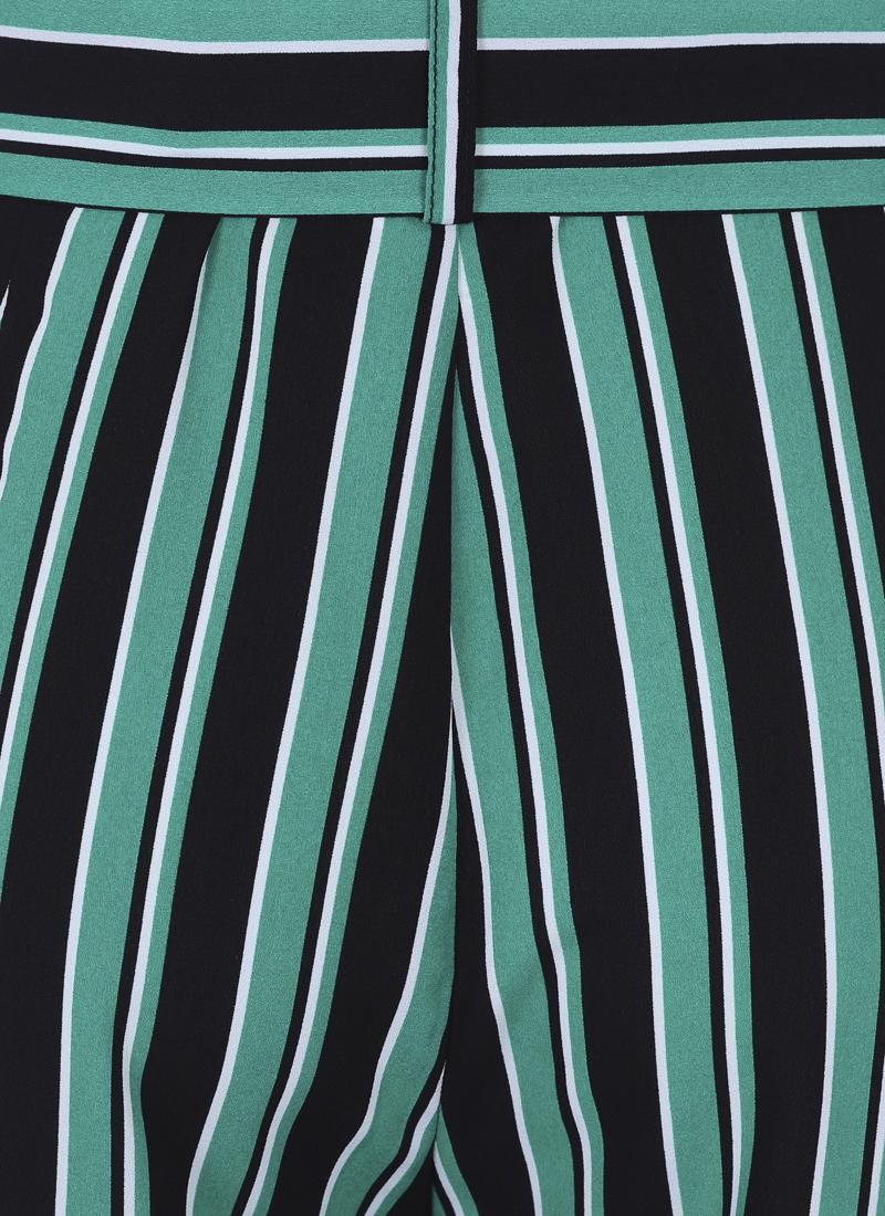Chloe Stripe Culottes - Green