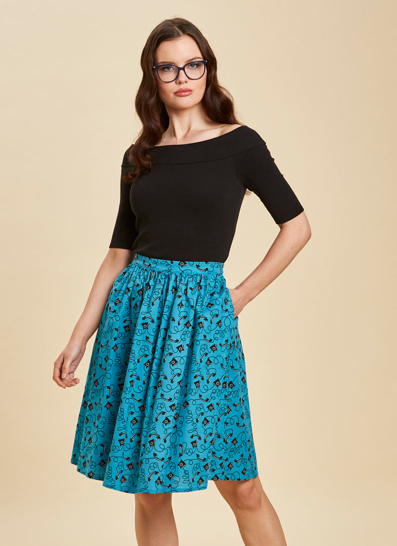 Jamelia Telephone Print Skirt