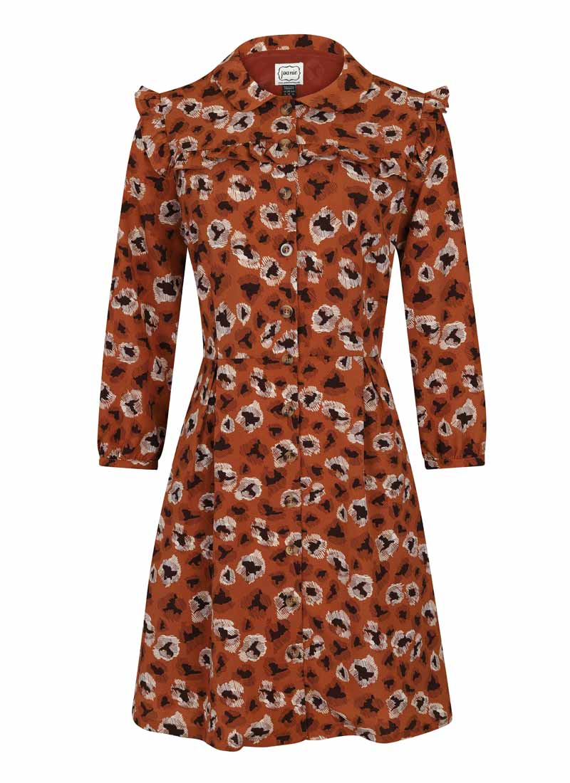 Corey Caramel Leopard Print Shirt Dress Product