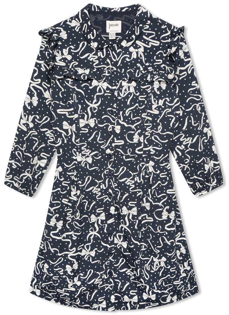 Corey Bows & Ribbons Print Shirt Dress Product Front