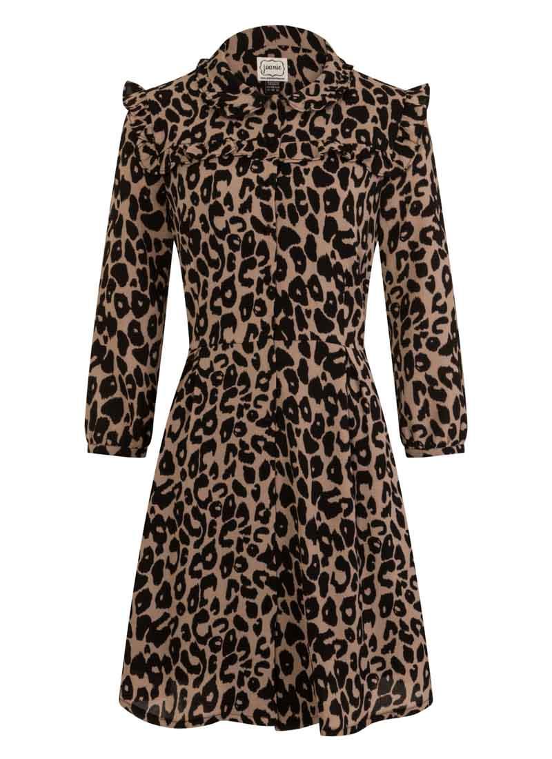 Corey Leopard Print Dress Product Front