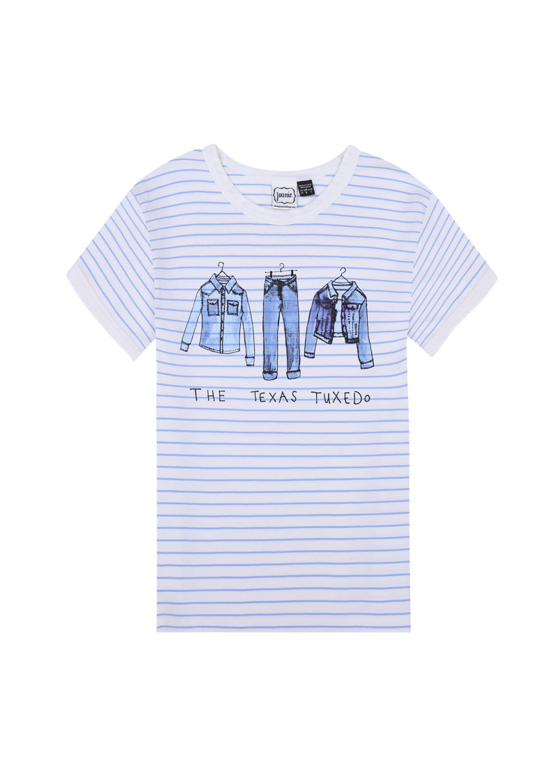 Crosby Parisian Blue Stripe Tee Product Front