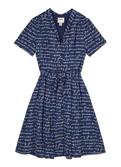 Barb EcoVero™ Franglais Print Tea Dress