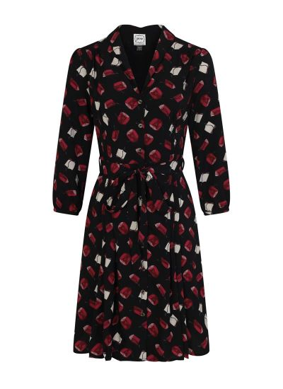 Barbara Book Print Button Through Dress Product Front