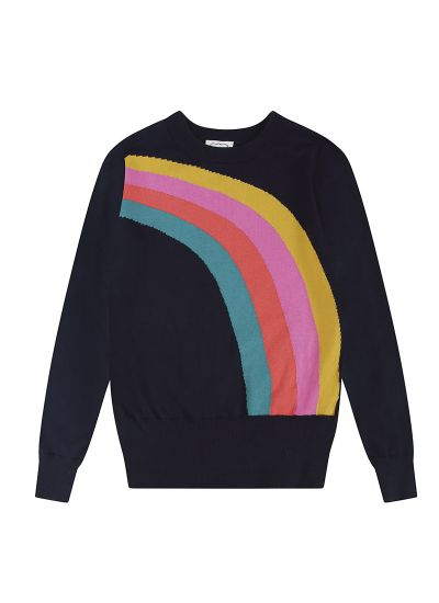 Bungle Rainbow Intarsia Jumper Product Front
