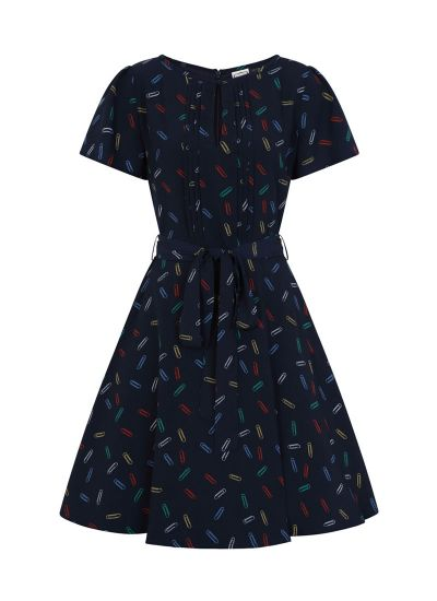 Celia Paperclip Print Dress Product Front