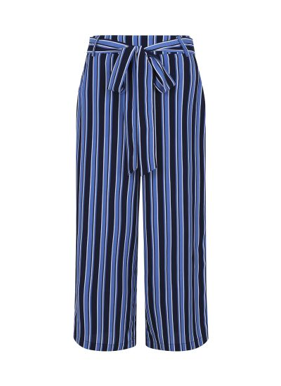 chloe stripe culottes blue product front