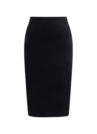 Elle Pocket Pencil Skirt Black Model Front