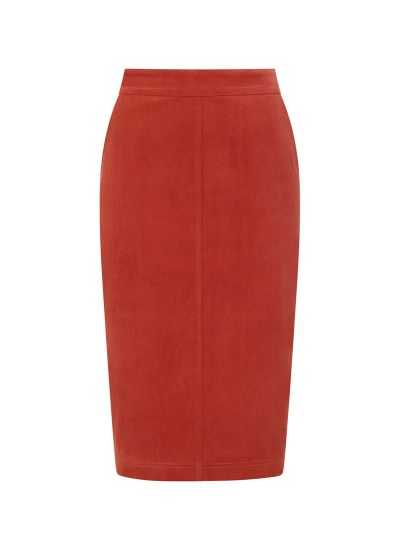 Elle Pocket Pencil Skirt Rust Product Front