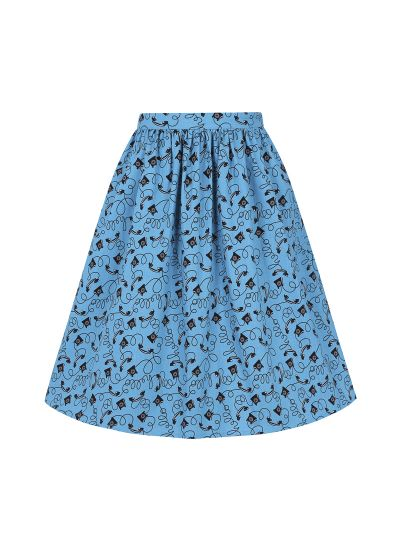 Jamelia Blue Telephone Print Skirt Product Front
