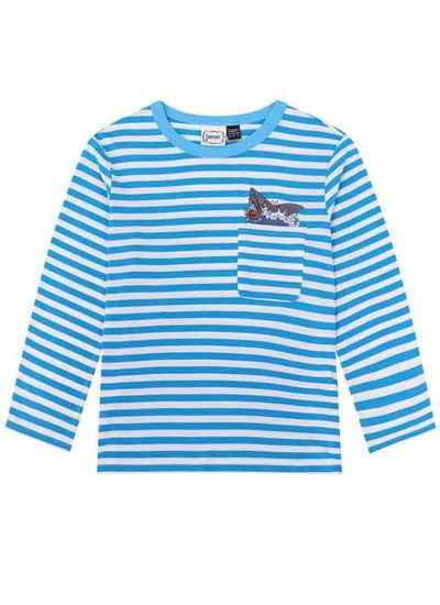Jaws Shark Pocket Stripe Top Product Front