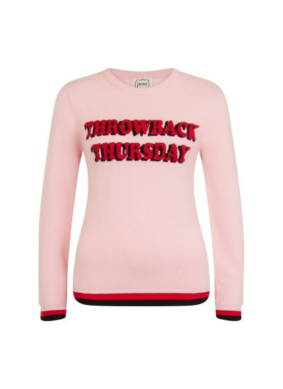 Jeudi Throwback Thursday Pink Jumper Product Front