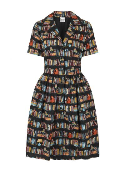 Pepper Book Print Shirt Dress Product Front