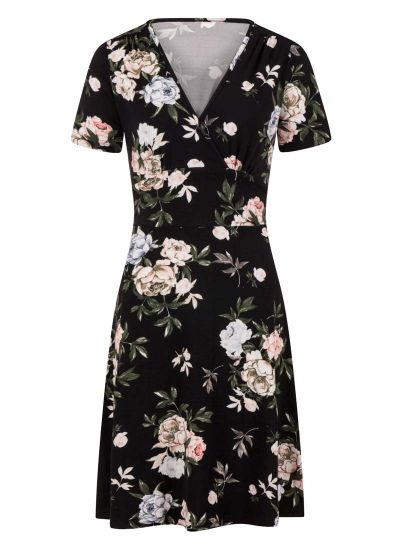 Julia Bold Floral Print Jersey Dress Product