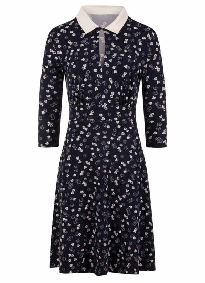 Kelly Dice Print Collar Dress Product Front