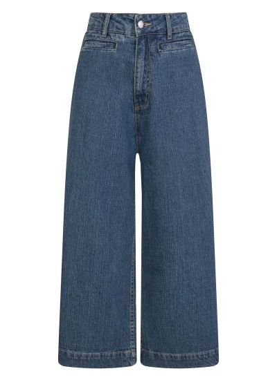 Lena Wide-Leg Crop Jeans Product Front