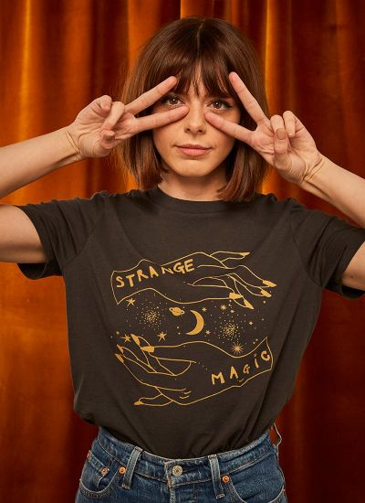 Joanie X Sophia Rosemary Lynne Strange Magic Tee Model Second Image