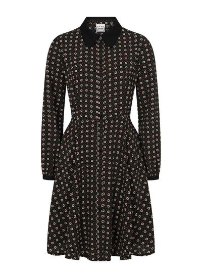 Millicent Printed Shirt Dress Black Product