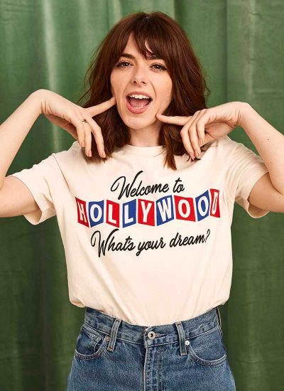 Joanie X Sophia Rosemary Mulholland Welcome To Hollywood Tee Sophia