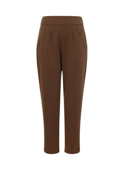 Peggy Dogtooth Peg Trousers Brown Product Front