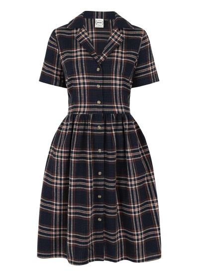 Pepper Flannel Check Shirt Dress Product Front
