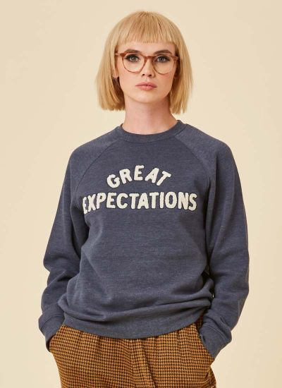 Pip Great Expectations Sweatshirt Model Close-Up