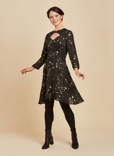 Reece Rose Gold Starry Night Dress Full Front View