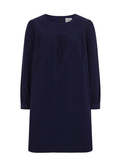 Sasha Cord Smock Dress Blue Product Front