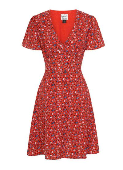 Serena Ditsy Floral Print Dress Product Front