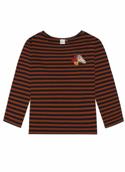 Taddy Horse Breton Stripe Top Product Front