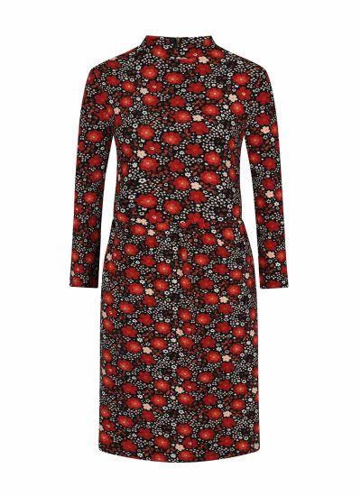 Adele High Neck Floral Print Dress Product Front