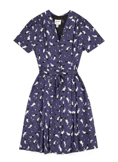 Barb EcoVero™ Magic Rabbit Print Tea Dress