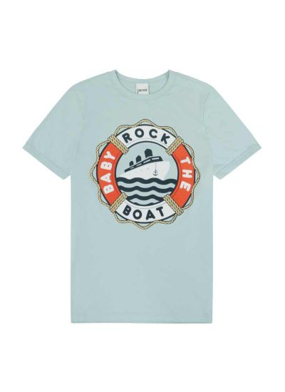 Belafonte Rock The Boat Slogan Tee