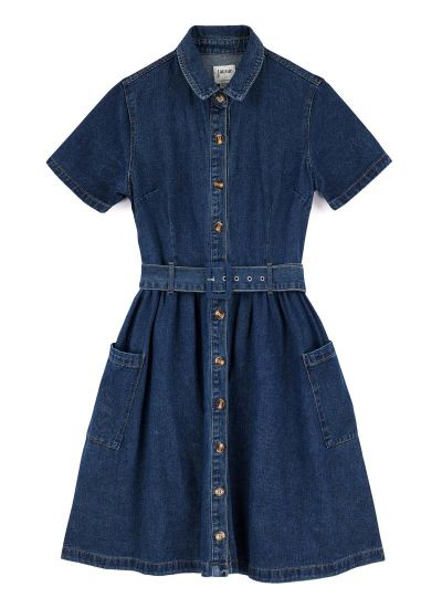 Berlin Belted Denim Shirt Dress