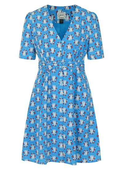 Birdie Boat Print Tea Dress