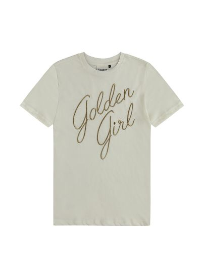 Blanche Golden Girl Slogan Tee - Cream